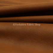 Soft Textured Perforated Brown Faux Leather Camper Van Seating Upholstery Fabric