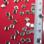 Strass Hotfix square 6 mm Glass 80 Pieces Colour Crystal Bling