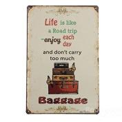 Bazaar Life Trip Tin Sign Vintage Metal Plaque Poster Bar Pub Home Wall Decor