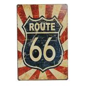 Bazaar Route 66 Tin Sign Retro Vintage Metal Plaque Bar Pub Wall Decor