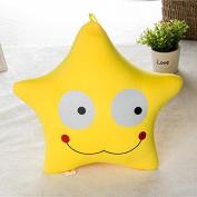 Bazaar Cute Creative Yellow Expression Star Throw Pillow Comfortable Office Sofa Car Cushion