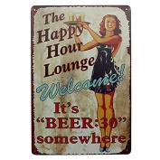 Bazaar Lounge Beer Tin Sign Vintage Metal Plaque Pub Bar Home Wall Decor