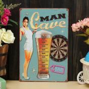 Bazaar Man Cave Sheet Metal Drawing Metal Painting Tin Bar Pub Wall Tavern Poster Sign