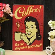 Bazaar Coffee Sheet Metal Drawing Metal Painting Tin Shop Pub Wall Tavern Poster Sign