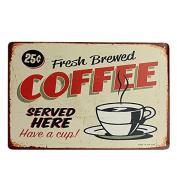 Bazaar Coffee Tin Sign Retro Vintage Metal Plaque Bar Pub Cafe Wall Decor