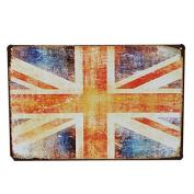 Bazaar UK Flag Tin Sign Vintage Metal Plaque Bar Pub Wall Decor Chritmas Gift