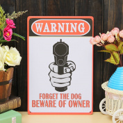 Bazaar Warning Sheet Metal Drawing Metal Painting Tin Shop Pub Wall Tavern Poster Sign