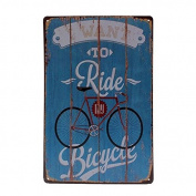 Bazaar Bicycle Tin Sign Vintage Metal Plaque Poster Bar Pub Home Wall Decor