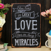 Bazaar Love Miracle Sheet Metal Drawing Home Wall Poster Metal Painting Tin Sign