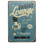 Bazaar Cocktail Lounge Tin Sign Vintage Metal Plaque Pub Bar Wall Decor