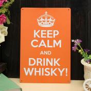Bazaar Drink Whisky Sheet Metal Drawing Metal Painting Tin Pub Wall Tavern Poster Sign