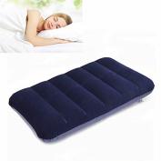 Bazaar 47x 30cm PVC Flocking Portable Inflation Pillow Outdoor Camping Travel Nap Sleeping pillow