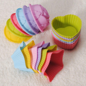 Bazaar 1Pcs Silicone Cake Muffin Chocolate Liner Baking Cup Moulds