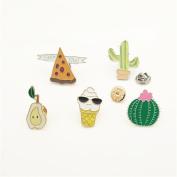 iTemer 5PCS Cute Cartoon Enamel Brooch Pins Novelty Alloy Brooch Clothes Backpacks Accessories