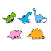 iTemer Cartoon Enamel Brooch Dinosaur Series Novelty Cute Badge Brooch Pin Set Clothes Backpacks Colourful Accessories
