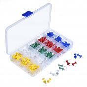 SGerste 200 Pieces Assorted Multi-colour Pin Pins Pins for Cork Board and Map