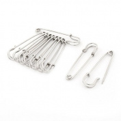 DealMux Stainless Steel Sewing Quilting Craft Fastening Safety Pins 10pcs Silver Tone