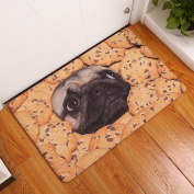 Dog Face Rectangle Carpet, Indexp Cute Pug Animal Flannel Non Slip Shaggy Soft Area Rug Bedroom Floor Home Kitchen Cleaning Decorative Rug Doormat