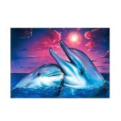 Baoblaze Decorative 5D DIY Diamond Painting Frameless Picture Poster Fr Home Shop Decor 30*30cm/40*30cm - Dolphin, as described