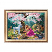 Rawuin DIY 5D Diamond Embroidery Painting Forest Horse And Girl Cross Stitch Craft Art