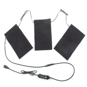 USB Thermal Vest Heating Cloth with Temperature Control Switch Electric Heating Clothes Pad Wash Flexible Heated Pad