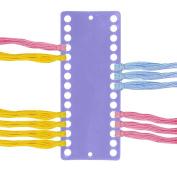 Plastic Needlework Project Card 30 Positions Floss Tread Yarn Organiser Designed For Floss Sorting