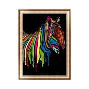 Qiman Abstract Horse 5D Handmade Diamond Painting Embroidery Cross Stitch DIY Art Craft Home Room Decoration