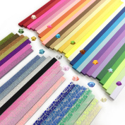 Wartoon 1900 Sheets 3 Styles 49 Colours Origami Stars Paper Double Sided and Luminous and Glitter Paper Set