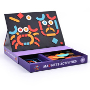 MiDeer Magnetic Board Puzzle Game Educational Toy Set for Kids Boys Girls