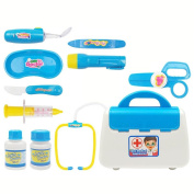 Pretend Play Doctor Kit Set Toy ,OUBAO Kids Pretend Role Play Learning Resources Pretend Play Doctor Set Gift with Carry Case for Kids