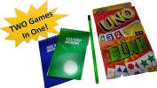 Uno Card Game - Blink Card Game (Combo Pack) Get TWO Funfilled Card Games In One With BONUS Which Includes Two Mini Notepads and BONUS Pencil For Score Keeping - Fun Card Game - Classic Games