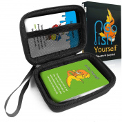 FitSand (TM) Go Fish Yourself Adult Party Cards Game Case, Travel Zipper Carry EVA Hard Best Protection Box