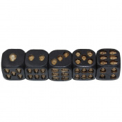 Black Skull Dice Skull Deluxe Devil Dice Gothic Gambling Dice Wooden Dice For Gaming ,Party, Bar, Entertainment,Decoration, Collectibles