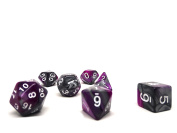 Purple and Grey Granite Polyhedral Dice Set | 7 Piece Matching Set | PRISTINE Edition | FREE Carrying Bag | Hand Checked Quality