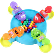 Hungry Frog Game, OULucicy Feeding Frog Frogies Fun Kids 3D Board Game Desktop Toys, Great Holiday Gift For Kids, Marbles Included