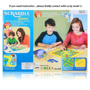 Scrabble Junior Board Game 2-Levels Kids Words Board Travel Game Double-Faced Chess Board by ZoeZ