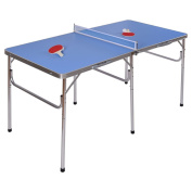 60� Portable Table Tennis Ping Pong Folding Table w/Accessories Indoor Game