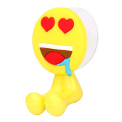 Emoji Expression Toothbrush Holder Double Sucker Rack Hooks expression toothbrush rack hanger heart pattern