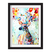 Wifun DIY 5D Diamond Embroidery Painting Colour Deer Cross Stitch Craft Home Decor