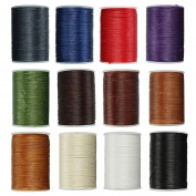 Bureze 78m Waxed Thread Polyester Cord Sewing Stitching Leather Craft Bracelet