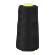 CHICTRY 3000 Yards 40S/2 Polyester Heavy Duty Sewing Thread for Sewing Machine All Purpose Thread Black One Size