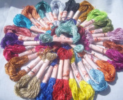 25 New Metallic Hand Embroidery Skeins, 25 Different Colours, High Quality