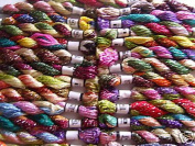 25 New Metallic Hand Embroidery MultiColoured Skeins, 25 Different Colours, High Quality