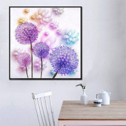 DIY 5D Dandelion Cross Stitch Embroidery For Home Arts Crafts Decoration Home Wedding Decoration Gift,40X40CM