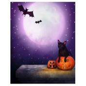 Demiawaking DIY Diamond Halloween Night Painting Cross Stitch Needlework Crafts Decor