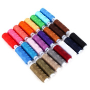 Original Seven 24 Spools Mixed Colours Polyester Sewing Threads Sets Decoration Crafts