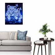 MML 5D DIY Tiger Diamond Painting Embroidery Full Round Diamond Home Decor Gift