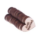 Vanpower 50pcs Natural Wooden Chips Love Heart Shape Wedding Supplies Party Decor