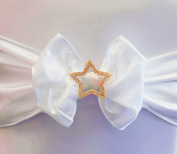Star Diamante Buckle Gold Pack of 6 Wedding Chair Decor