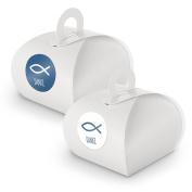 Itenga Set Fish Thank You MOTIV33) 24x Gift Box with White Handle + Sticker